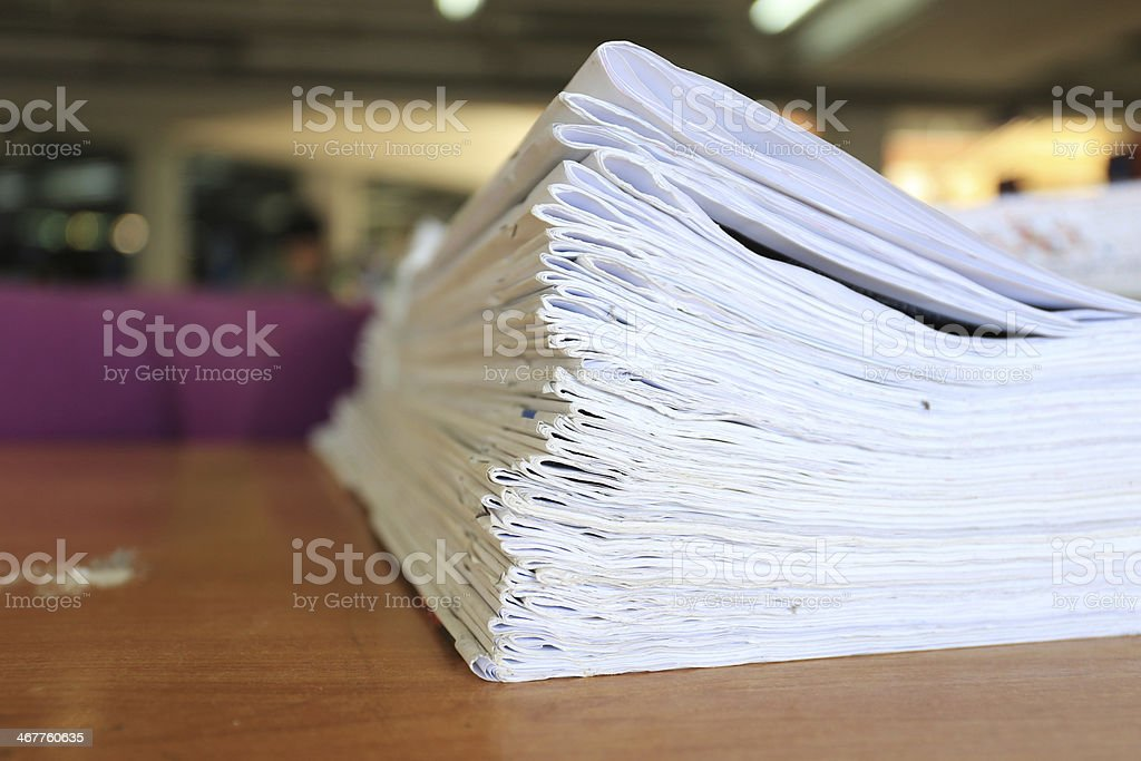 Newspapers folded and stacked concept for global communications royalty-free stock photo