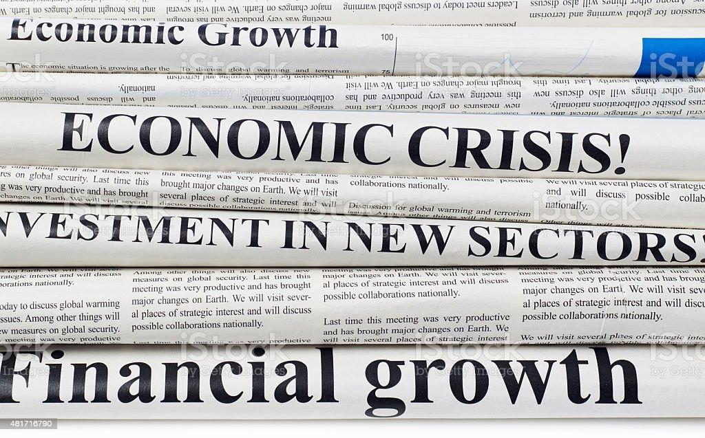 Newspapers headlines stock photo