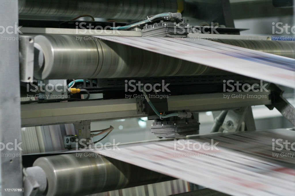 newspaper`s motion blur royalty-free stock photo