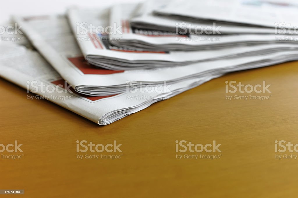 Newspapers on the desk royalty-free stock photo