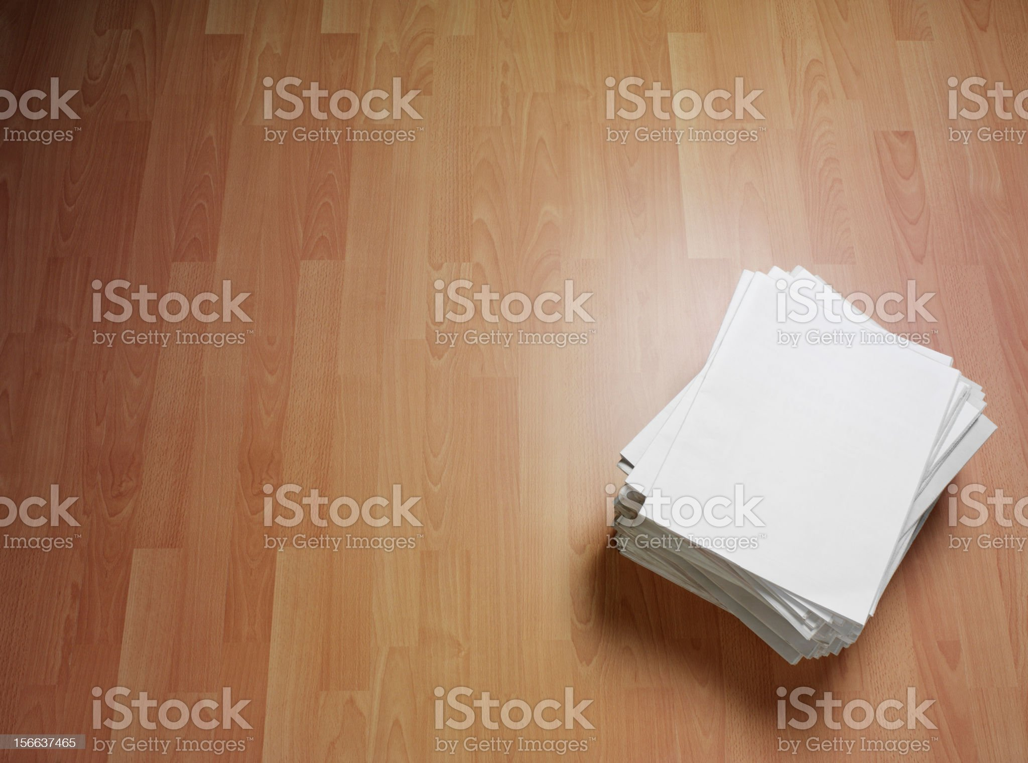 Newspapers on the Floor royalty-free stock photo