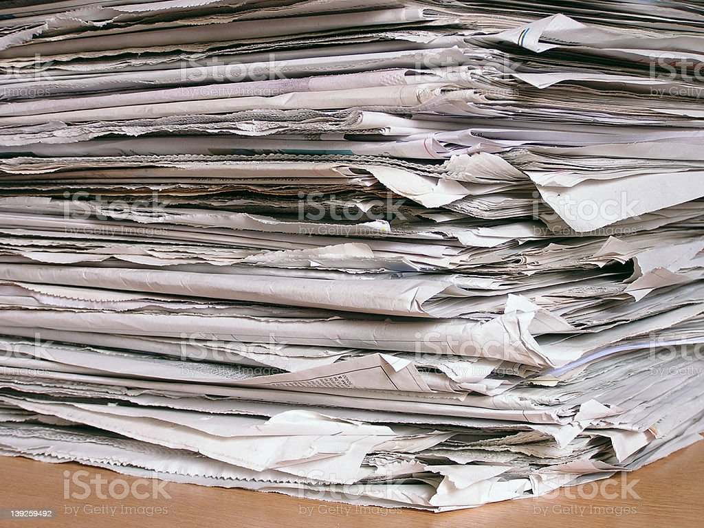 newspapers #3 royalty-free stock photo