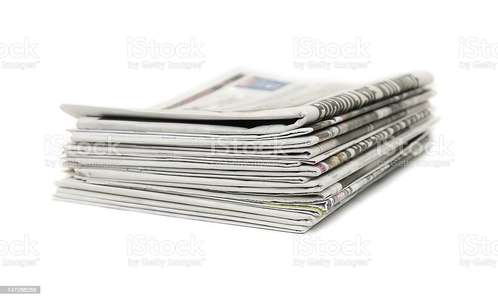 newspapers royalty-free stock photo