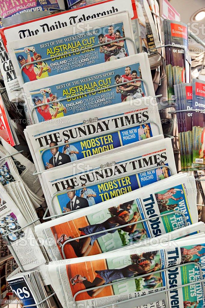 Newspapers stock photo