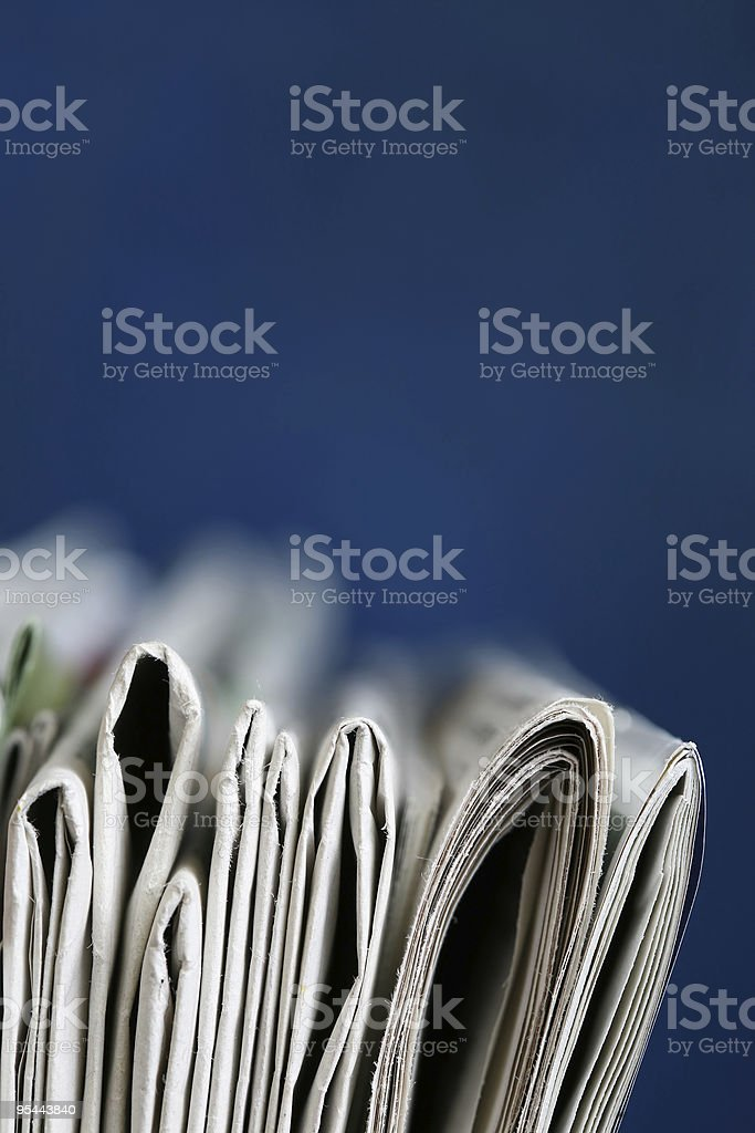 Newspapers stack concept royalty-free stock photo