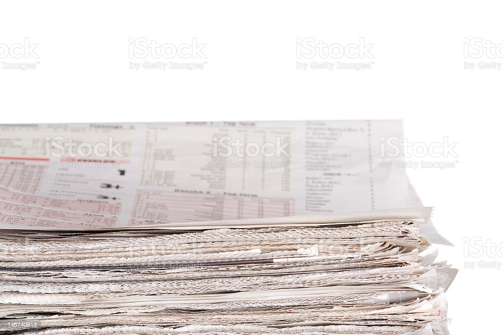 Newspapers stockpile stock photo