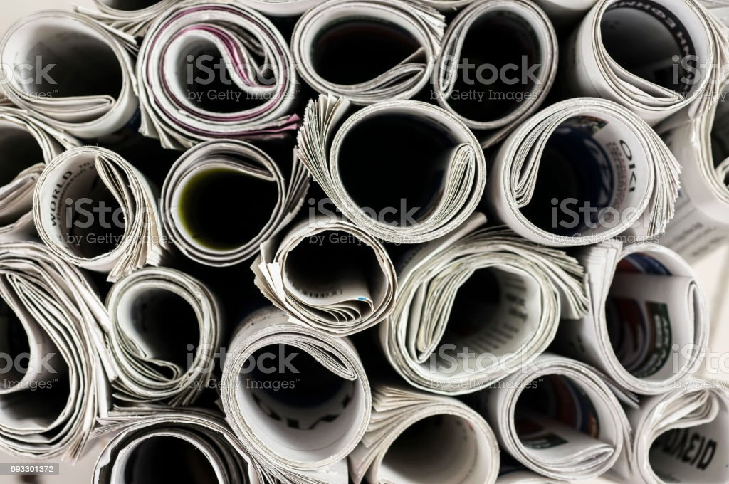 Newspapers texture background stock photo