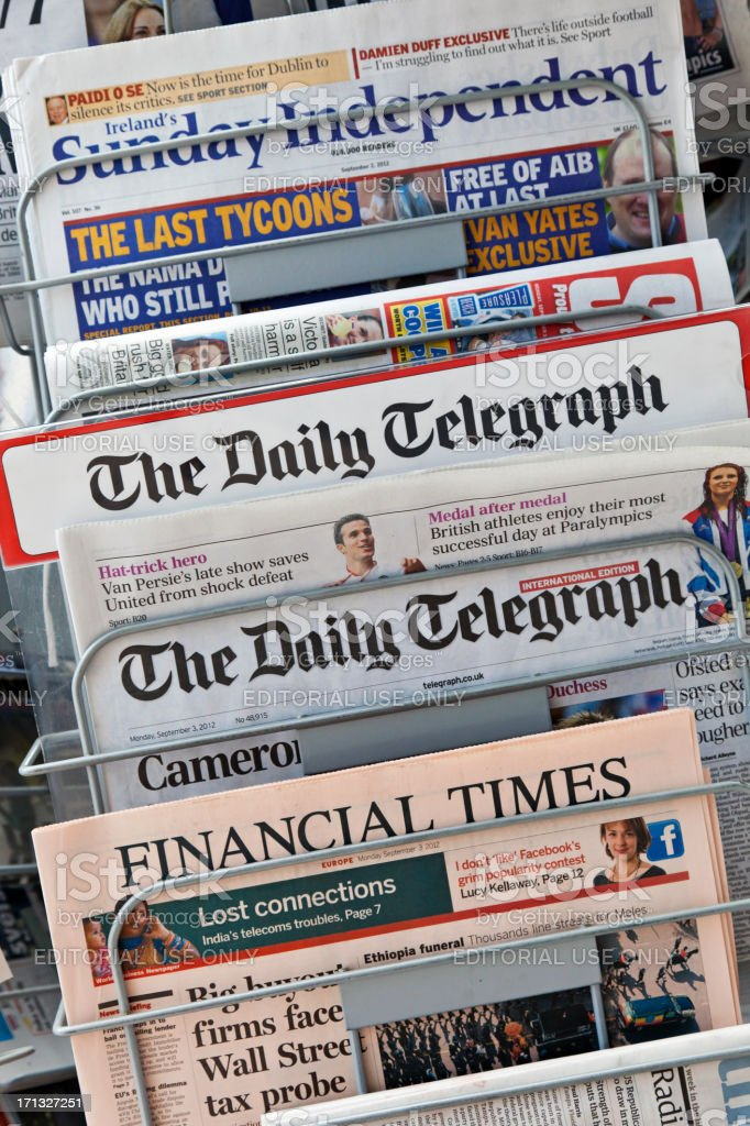 Newspapers # 4 XXXL stock photo