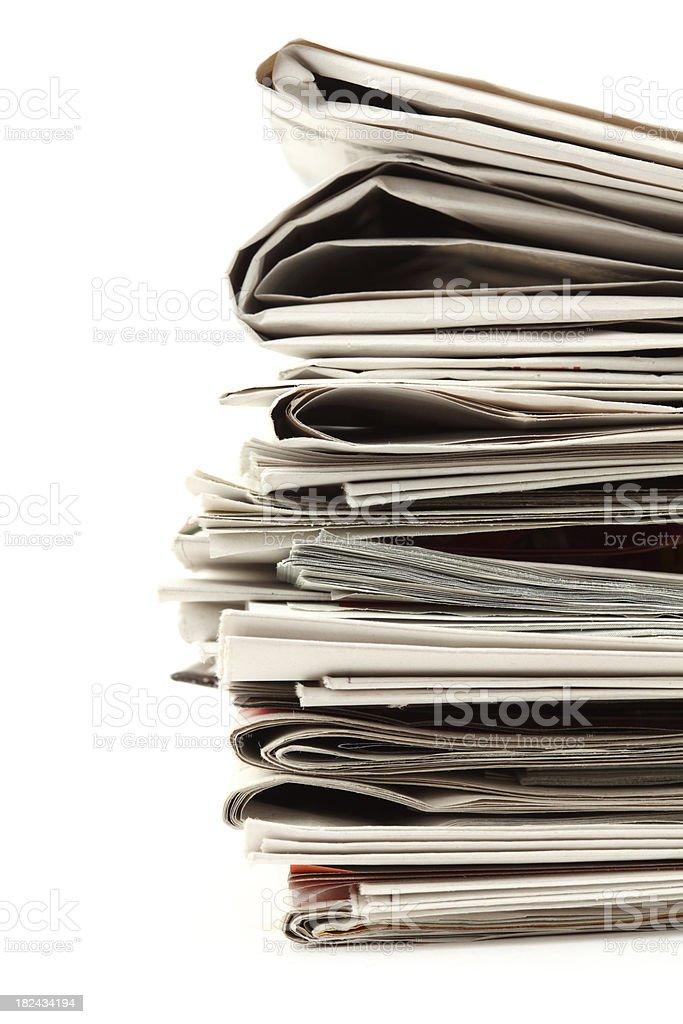 Newspapers XXXL stock photo