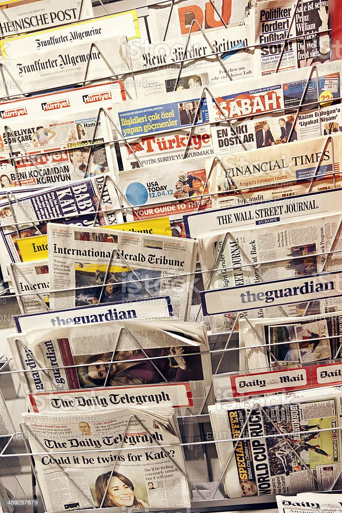 Newspapers # 5 XXXL stock photo