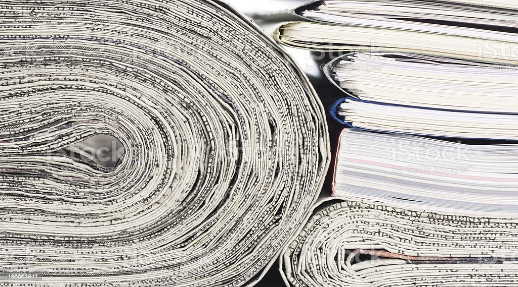 Newspapers.stacked file. royalty-free stock photo