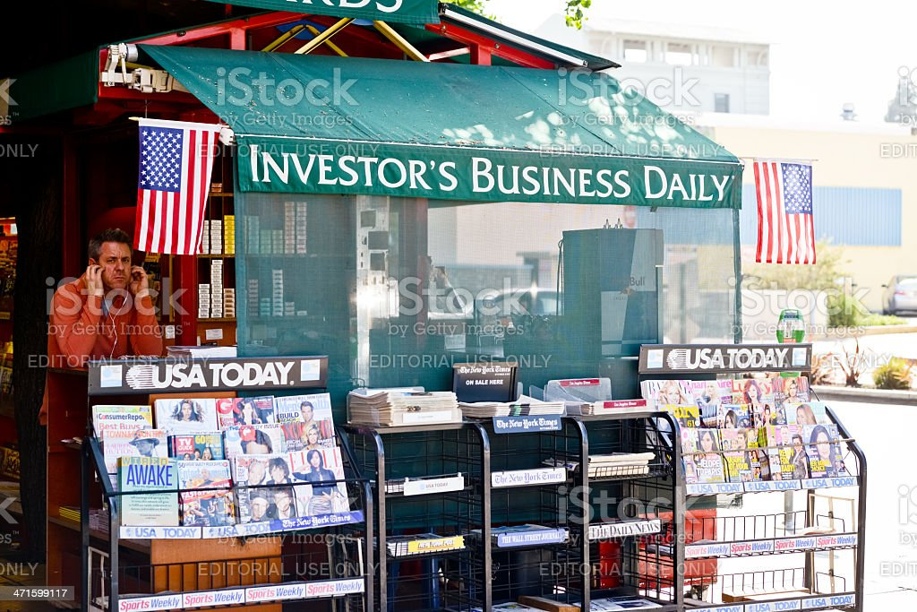 Newsstand in Los Angeles, USA royalty-free stock photo