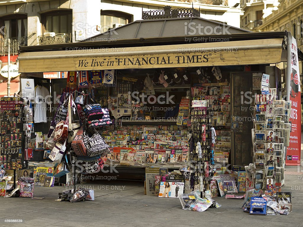 Newsstand royalty-free stock photo