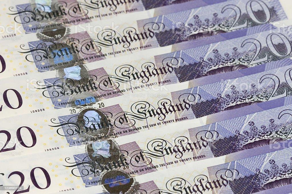 New-style Twenty Pound Notes stock photo