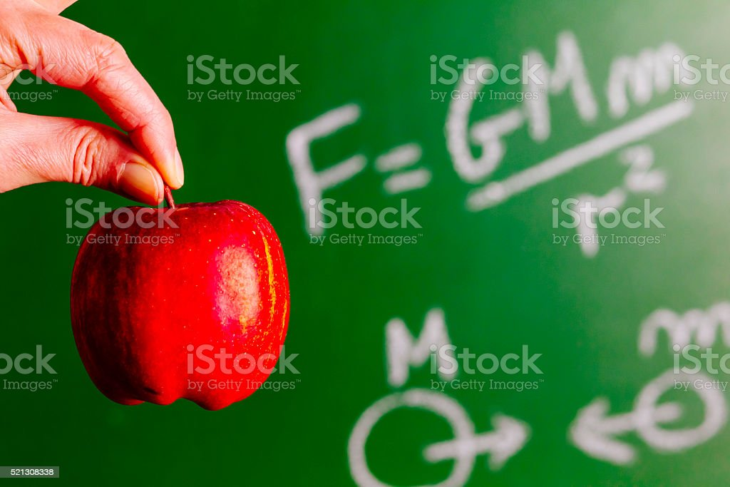 Newton and the apple stock photo