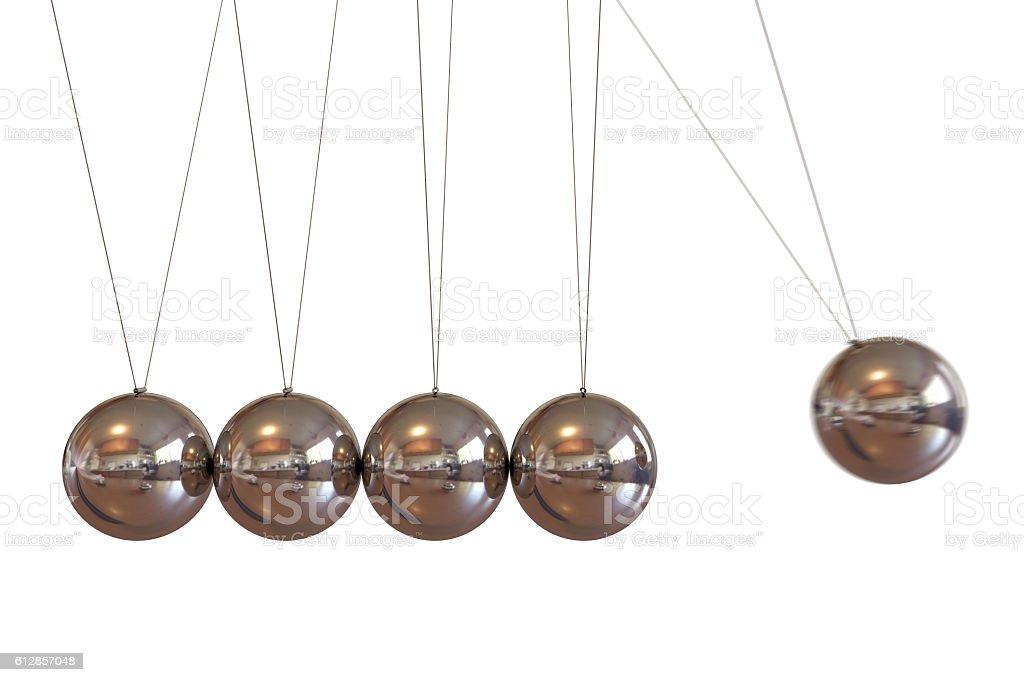 Newton Balls On White Background stock photo