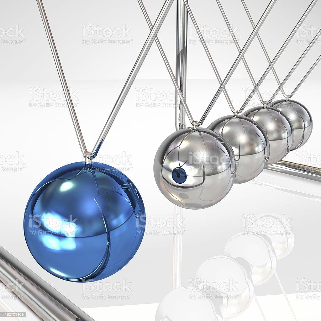 Newton cradle pendulum stock photo