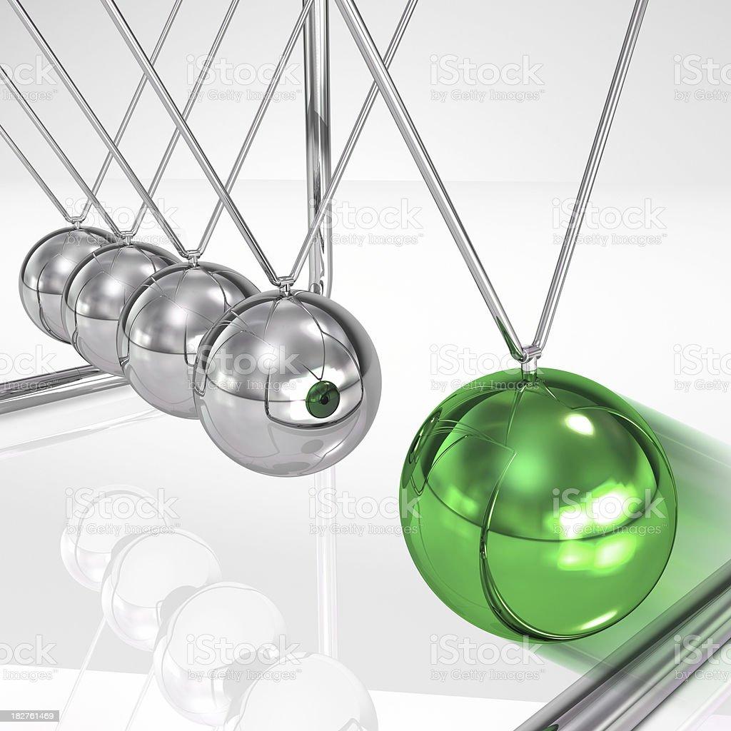 Newton cradle pendulum royalty-free stock photo