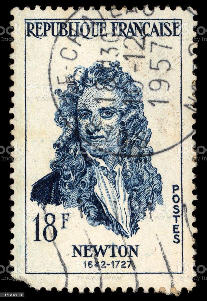 newton stamp stock photo