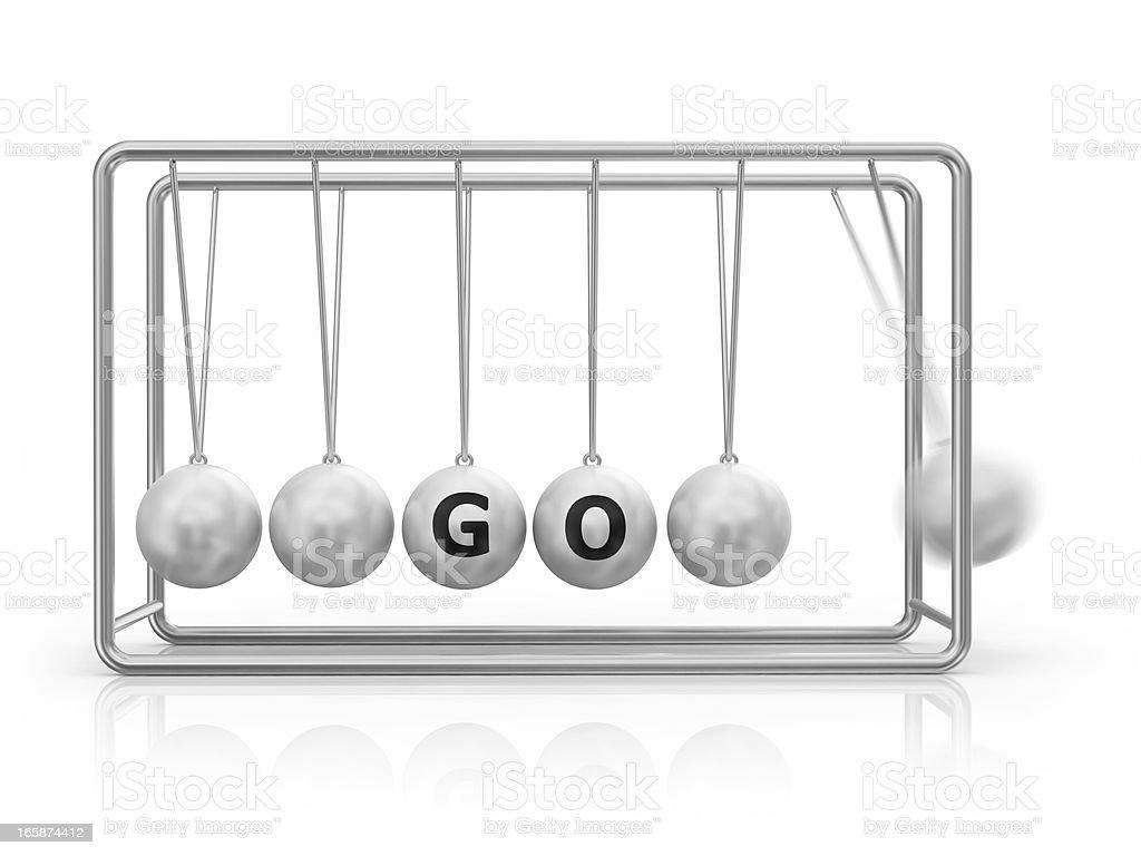 Newton's Cradle - GO! stock photo