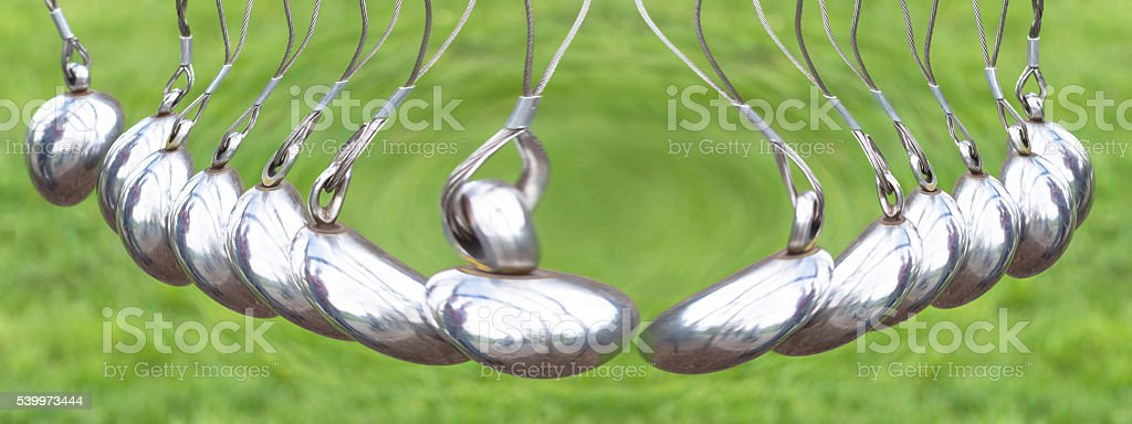 Newton's Cradle or pendulum ball, Newton pendulum also called Ne stock photo