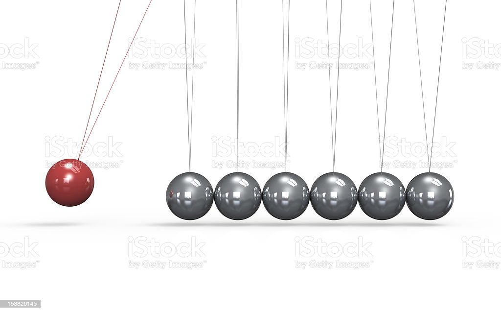 Newtons cradle. stock photo