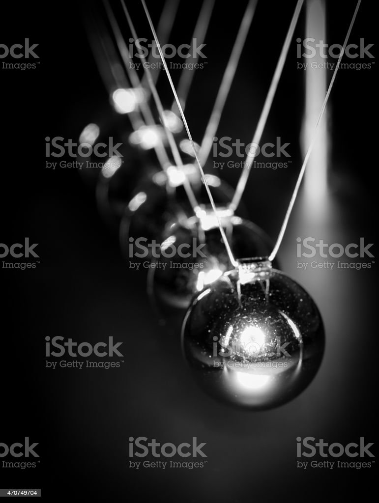 Newtons Cradle stock photo