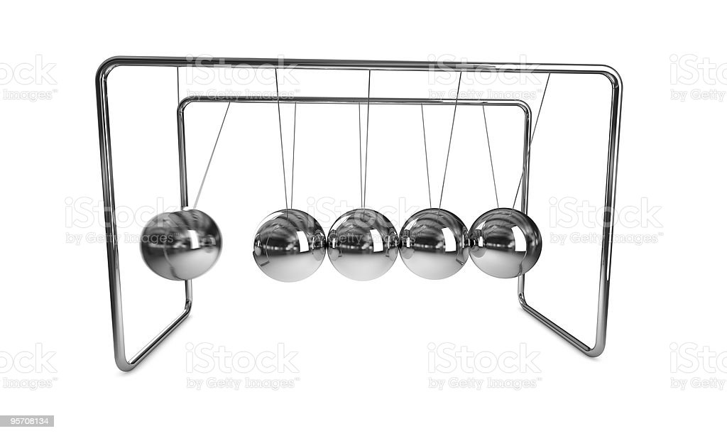 Newton's cradle royalty-free stock photo
