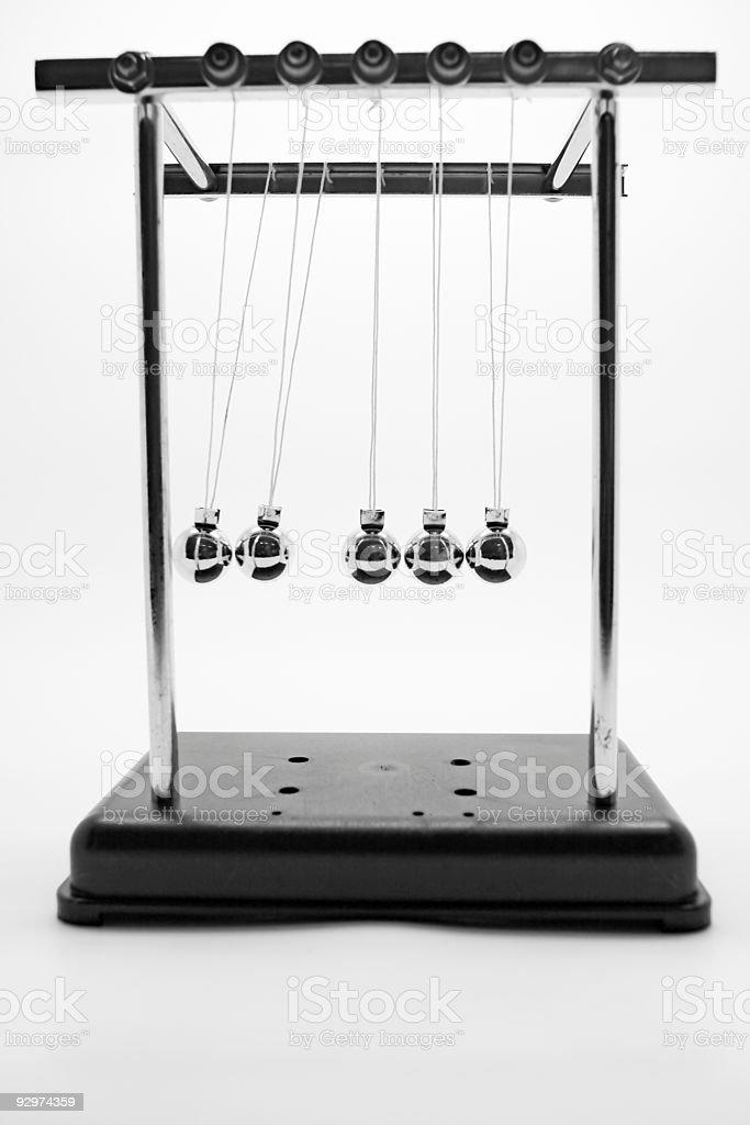 Newton's pendulum stock photo