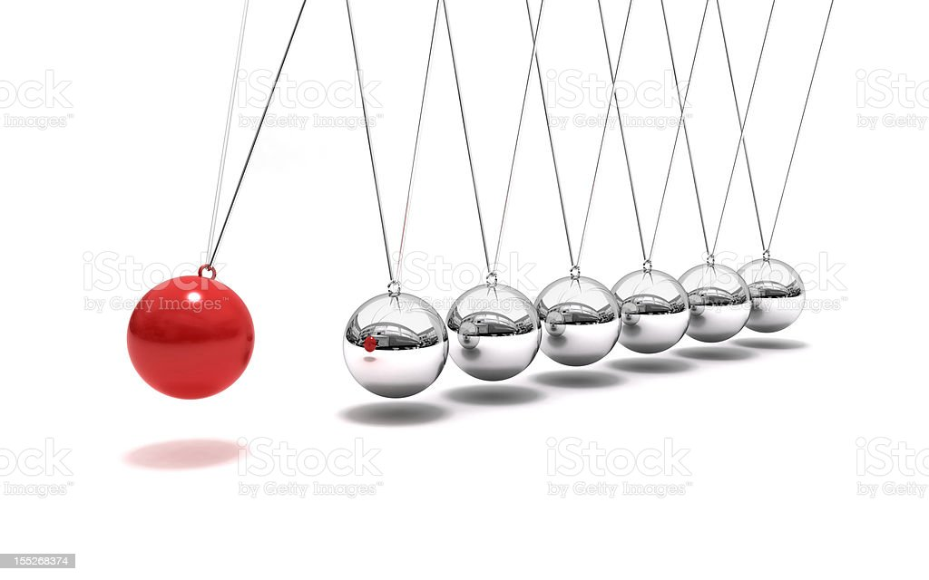 Newton's Time Cradle stock photo