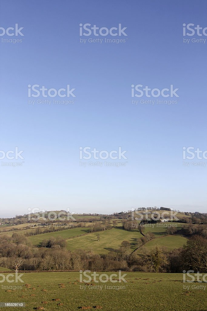 Newtown in Powys, Wales royalty-free stock photo
