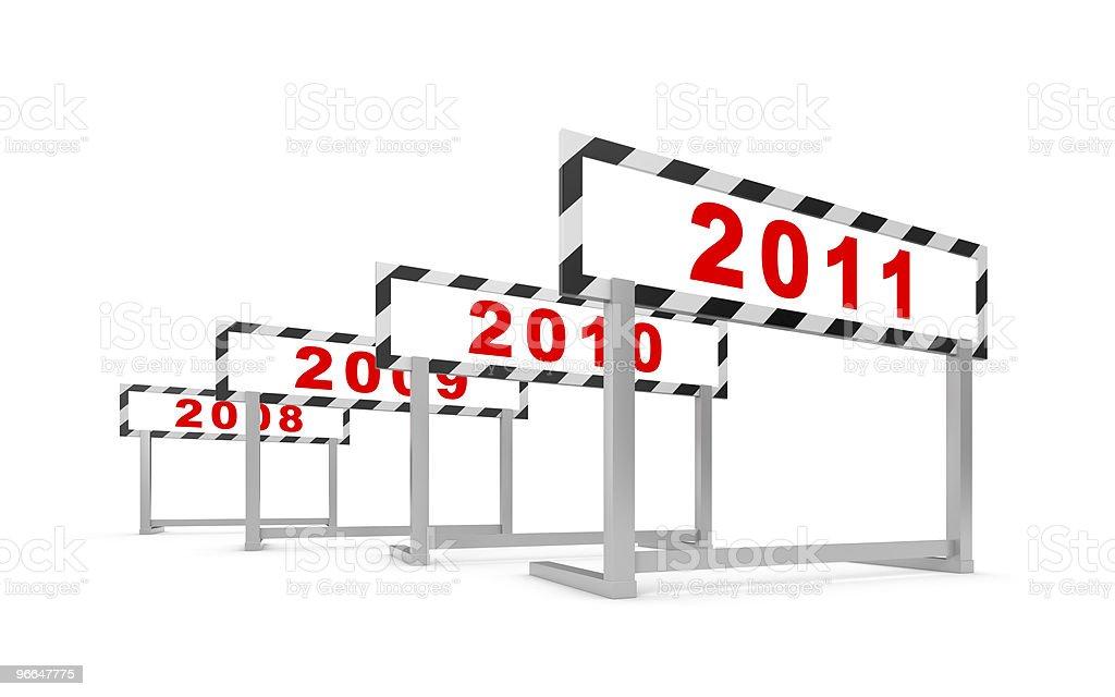 New-Year - new hurdle royalty-free stock photo