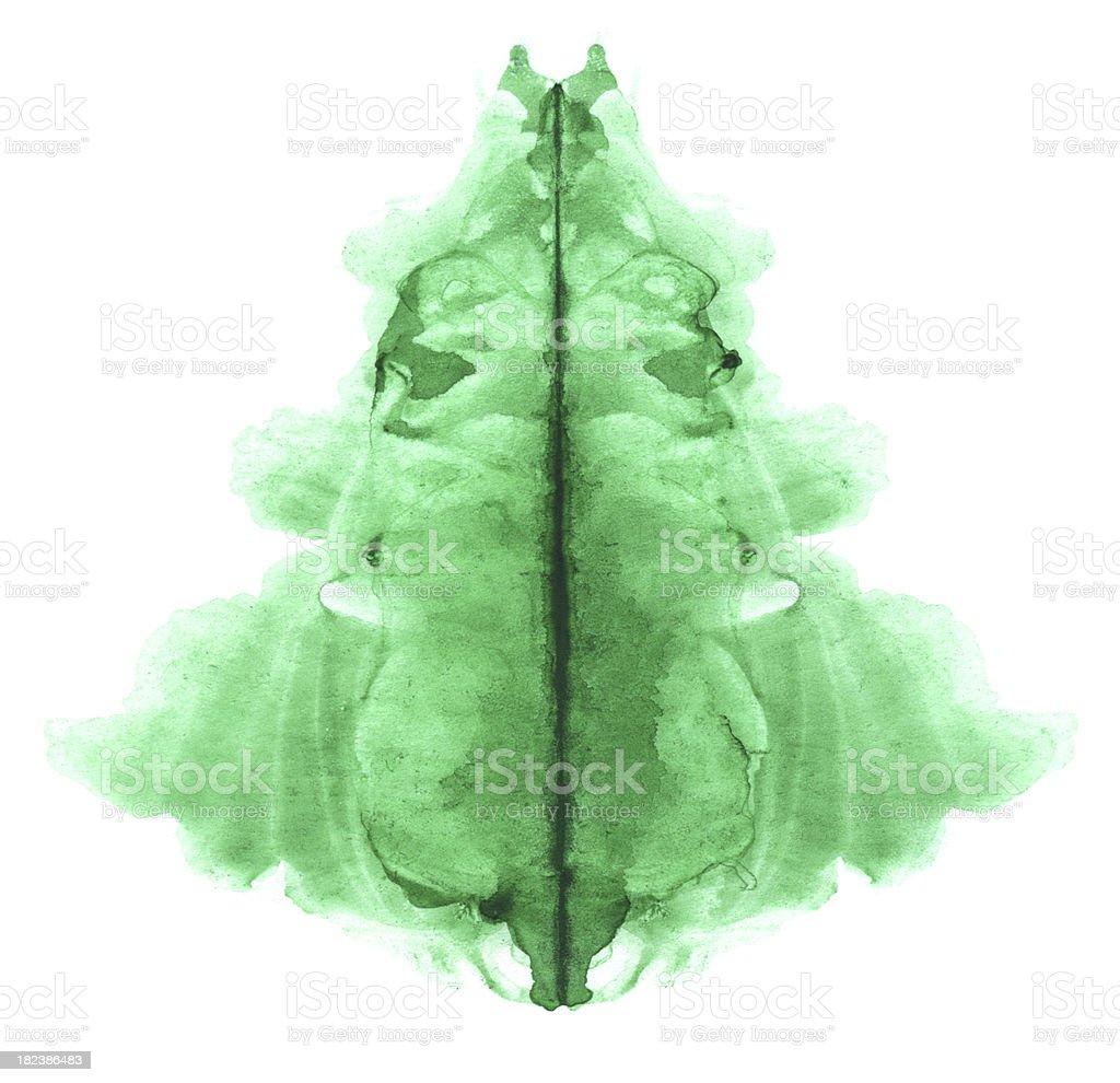 New-Year tree shaped spot royalty-free stock photo