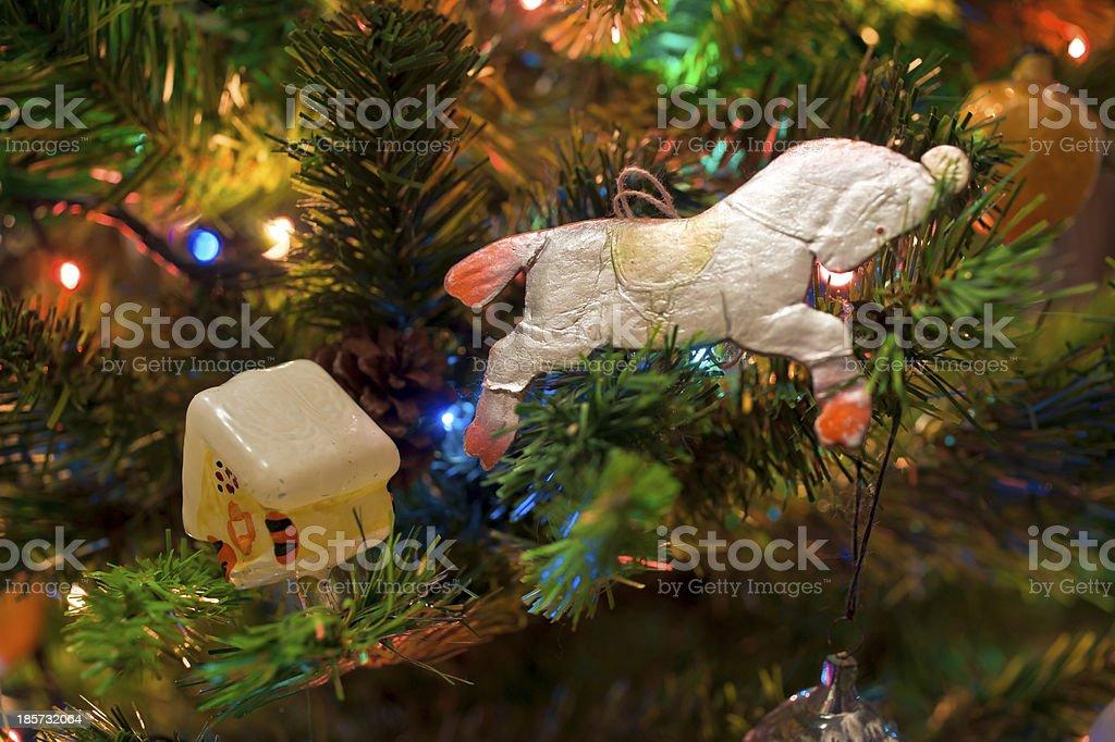 New-Year's Tree decoration royalty-free stock photo