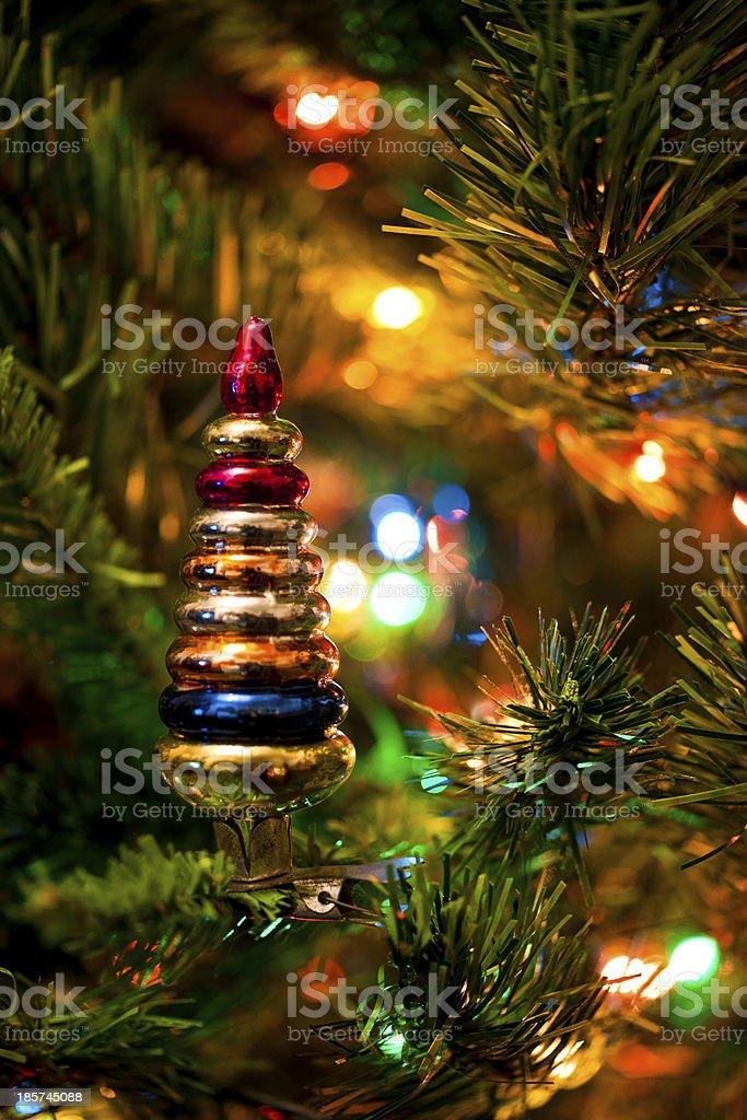 New-Year's Tree decoration stock photo