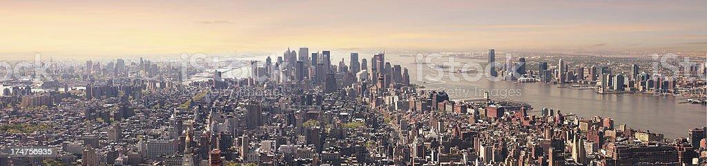 Newyork panorama at dusk royalty-free stock photo