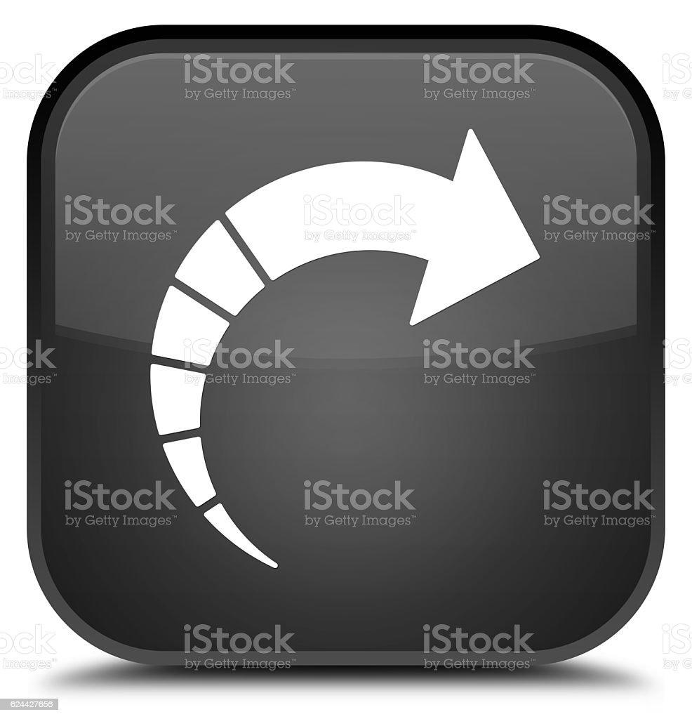 Next arrow icon special black square button stock photo