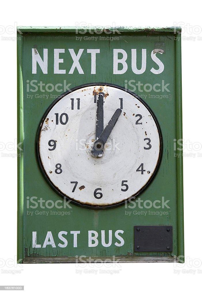 Next bus royalty-free stock photo
