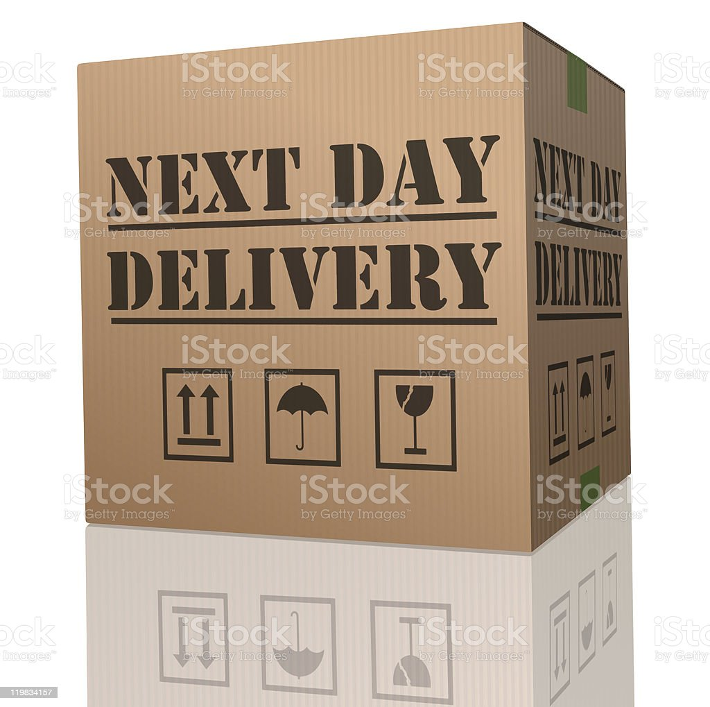 next day delivery royalty-free stock photo