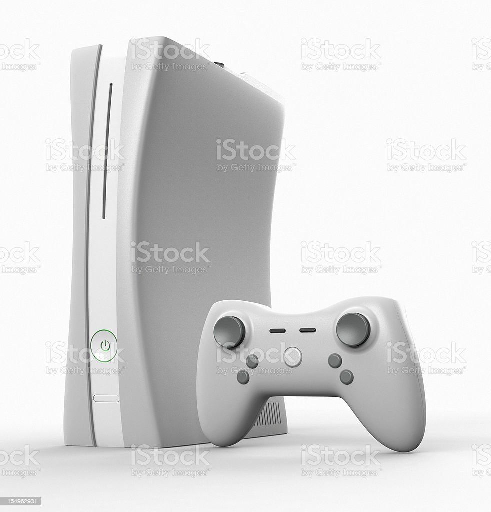 Next generation game console and joystick stock photo