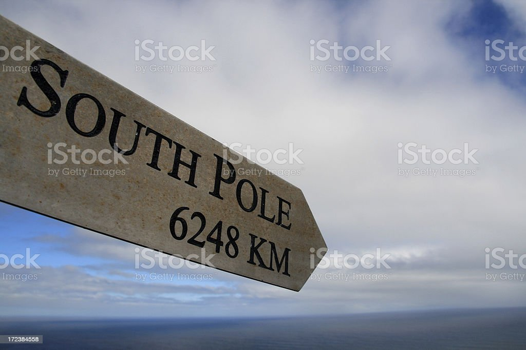 Next stop South Pole stock photo