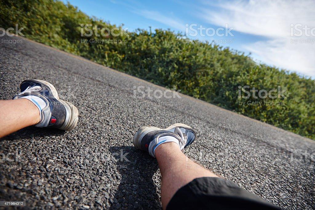 Next time I should train before I run a marathon stock photo