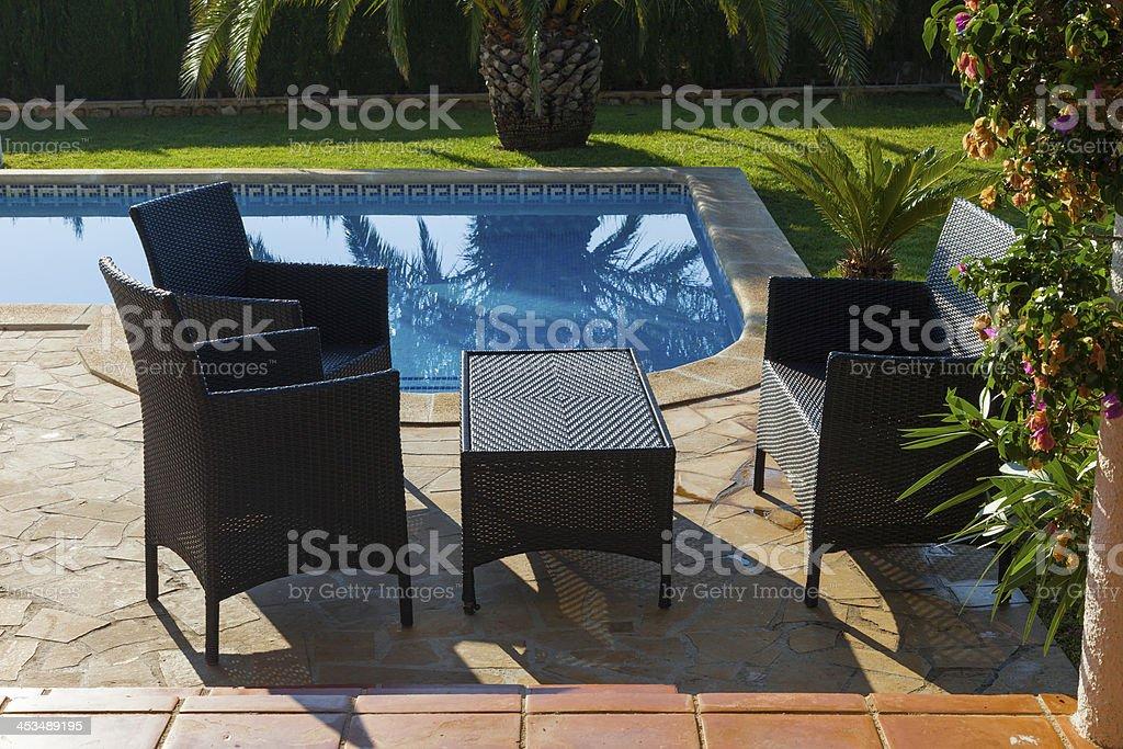 Next to the pool royalty-free stock photo