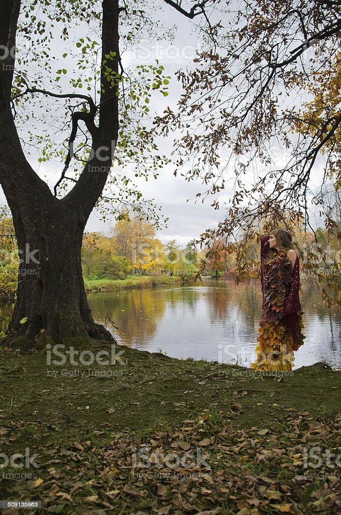 Junto a árvore foto de stock royalty-free