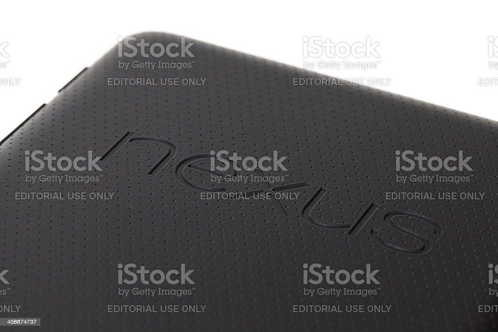 Nexus 7 tablet computer stock photo