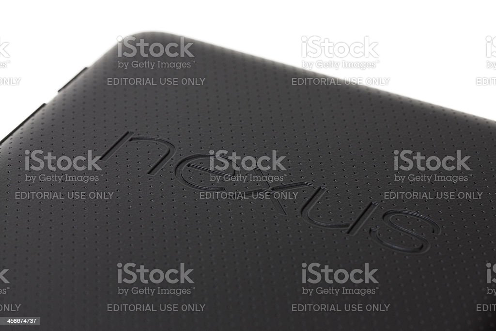 Nexus 7 tablet computer stock photo