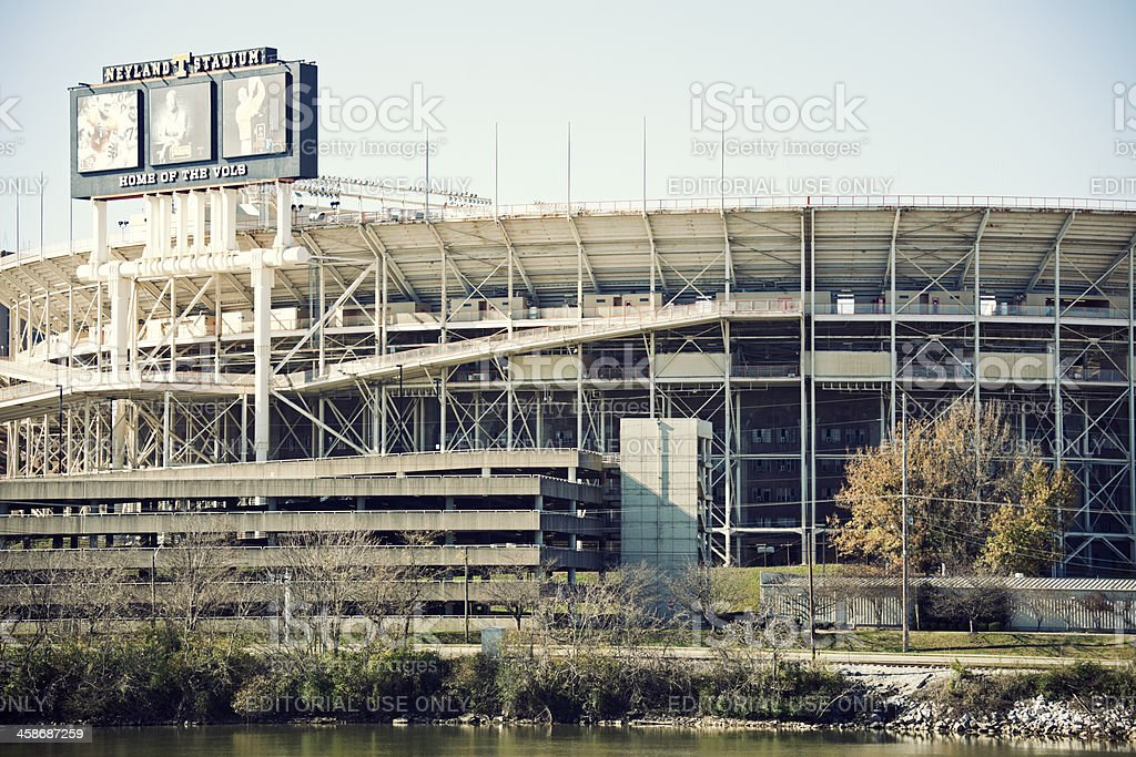 Neyland Stadium in downtown of Knoxville stock photo