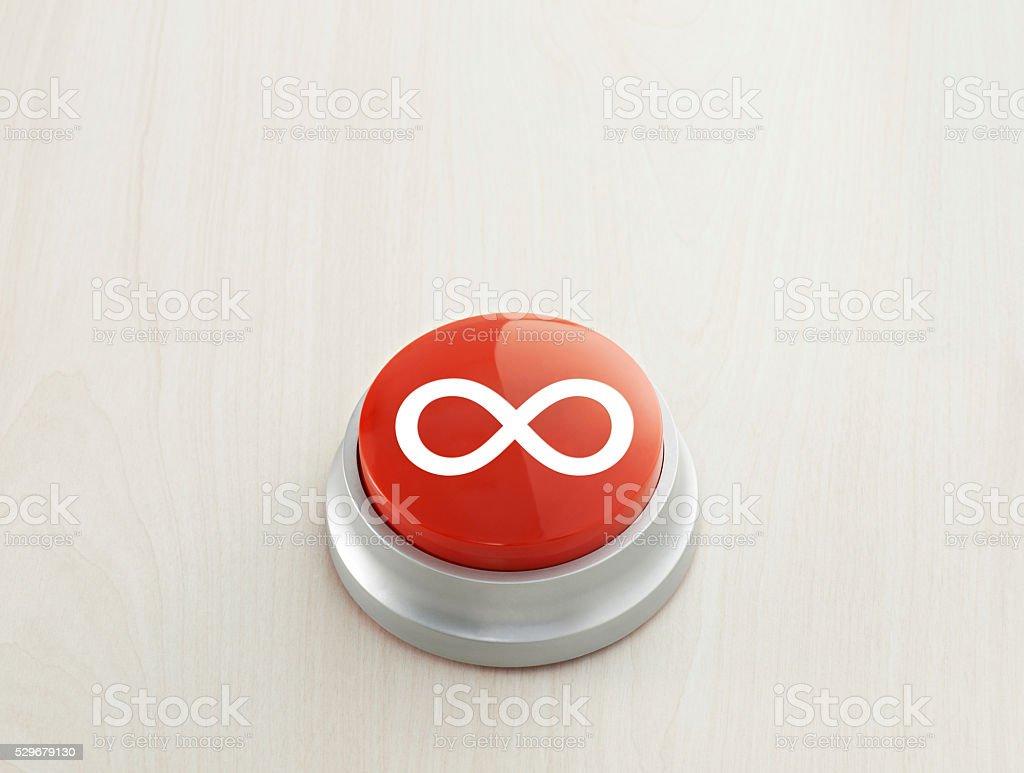 İnfinity button stock photo