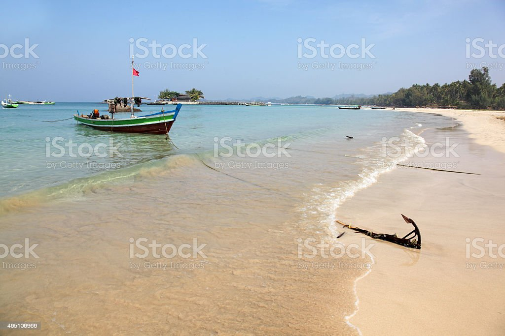 Ngapali Beach Myanmar stock photo