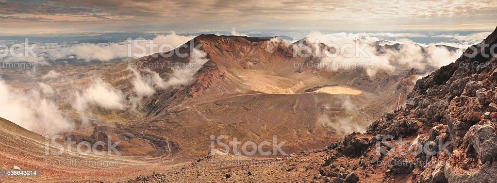 Ngauruhoe view stock photo